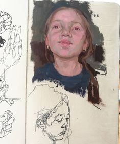 """Fer. Oil on paper, 8""""x5"""" moleskin. Have had some great proposals to follow up my kickstarted """"Painter"""" project with a book on my sketches and painted sketches. 2018!"""