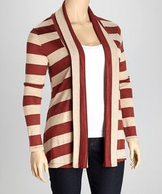 Pull this long-sleeve piece over any ensemble for an added layer that's both pretty and practical. Stripes amp up the style factor while soft fabric stops any shivers.