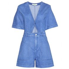 Stella McCartney - Cut-out denim playsuit - Stella McCartney's cut-out denim playsuit is at the top of our SS15 shopping list. We adore the lighter blue wash, wide, short sleeves and A-line shorts. Style it simply with tennis shoes for a low-fi weekend look. seen @ www.mytheresa.com