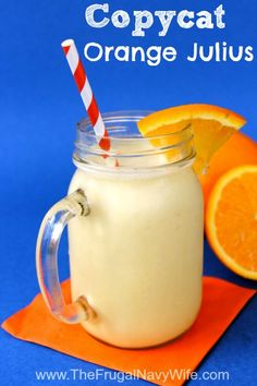 Copycat Orange Julius Recipe - Save money and make his addicting treat at home