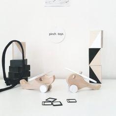 Houten Helikopter & Vliegtuig mini set - Pinch Toys