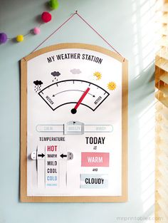 Cute Weather station for the classroom.