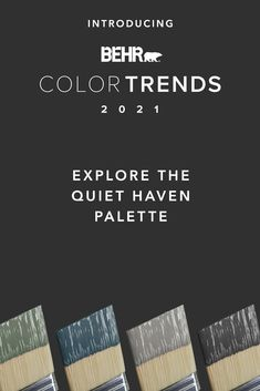 Make your home your own quiet haven with these rich, evocative colors from our Quiet Haven palette. Making a statement is easy with expressive dark colors like Nocturne Blue HDC-CL-28, Broadway PPU18-20, Royal Orchard PPU11-01 and Barnwood Gray PPU24-07. Click below to learn more.