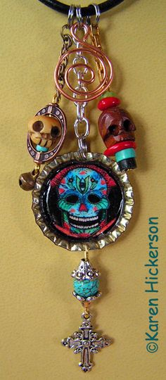 Recycled Bottle Cap Talisman Jewelry - Karen Hickerson