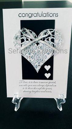 Handmade wedding card #handmade #weddings #cards #hearts #love #congratulations