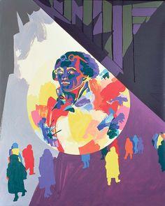 Gérard Fromanger. – « Chauds et froids de Robespierre », de la série « L'atelier de la Révolution », 1988-1989