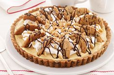 Easy Peanut Butter-Chocolate Chip Pie recipe-I love this idea, though I may tweak it a bit