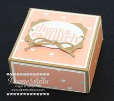 Stampin' Up! Ferrero Rocher thank you box with video tutorial