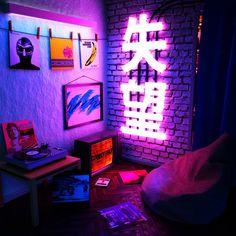40 Amazing Game Room Design Ideas You Must Copy Now Computer Gaming Room, Gaming Room Setup, Gaming Rooms, Gaming Chair, Bedroom Setup, Room Ideas Bedroom, Chill Room, Neon Room, Retro Room