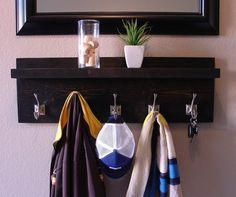 Rustic Modern Ebony 5 Hanger Hook Wall Mount Coat Rack by KeoDecor, $125.00
