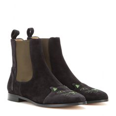 Chelsea Cats Suede Boots ✽ Charlotte Olympia ☆ mytheresa.com