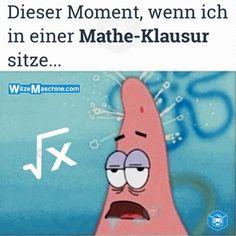 Dieser Moment wenn Sprüche - Planlos in Mathe - Patrick Spongebob Meme