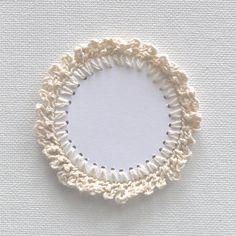 ONE BLANK LABEL Crochet Embellishment Tag