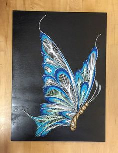 Butterfly String Art by StringTheoryVan on Etsy