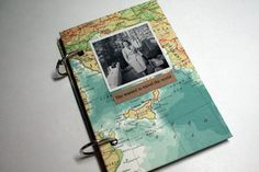 Travel Scrapbook Kits // I want to cover my Travel Scrapbook cover with a pretty map!!! I think Paperchase do stuff like that <3 :D