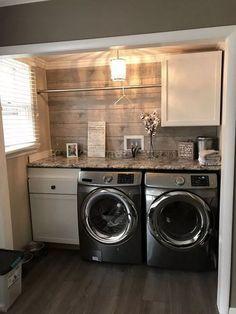 Laundry Room Closet Stacked - Fabulous Modern Farmhouse Laundry Room Design Ideas.  #LaundryRoomClosetStacked #laundryroomideas #laundryroommakeover