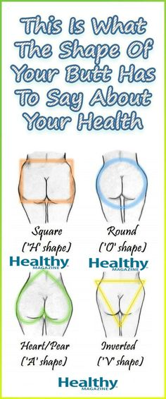 This Is What The Shape Of Your Butt Has To Say About Your Health!