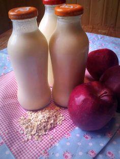 Iogurte de maçã e aveia