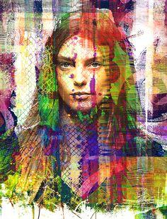 Portrait, Mixed Media, Digital Art,  Metamorphose III, Susanne Mutert