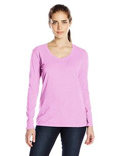 Champion Women's Jersey Long-Sleeve Tee Shirt ** To view further for this item, visit the image link.