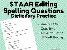 27 best staar writing test prep images on pinterest test prep staar writing spelling dictionary practice editing fandeluxe Image collections