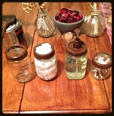 Just got these done for my bathroom!!!! #mason jar craft  Very cute for rustic style homes