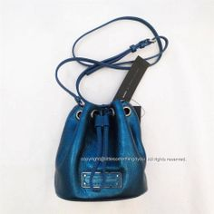 MARC BY MARC JACOBS Crossbody - Too Hot To Handle Metallic Mini Drawstring Blue