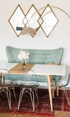 Marcus Dining Table (via Barefoot Blonde / Becki Owens)