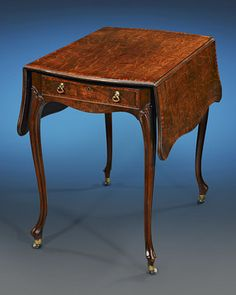 This highly important Pembroke table was crafted by the iconic Thomas Chippendale and is counted as one of the few rare examples made by his hand that are still in private hands. An unquestionable masterpiece, this mahogany and satinwood table also claims the important provenance of Paxton House, an estate born from a collaboration between Chippendale and Robert Adam, two of the most celebrated names in architecture and cabinetmaking. Paxton is considered amongst the greatest of…