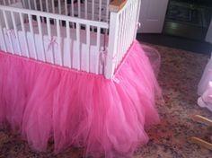 Pink tulle Tutu crib skirt