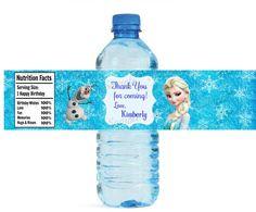 Gefrorenes Wasser Flaschenetikett Druckversion Digital