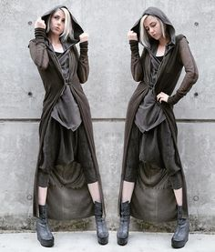 Dark mori and strega fashion Mode Outfits, Fashion Outfits, Fashion Clothes, Post Apocalyptic Fashion, Post Apocalyptic Clothing, Dystopian Fashion, Character Outfits, Dark Fashion, Mode Inspiration