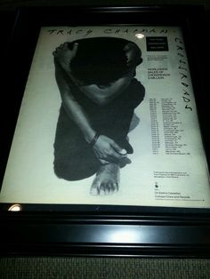 Tracy Chapman Crossroads Tour Promo Poster Ad Framed!