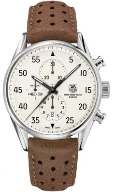 Tag Heuer Carrera Silver Dial Chronograph Automatic Men's Watch CAR2015.FC6321