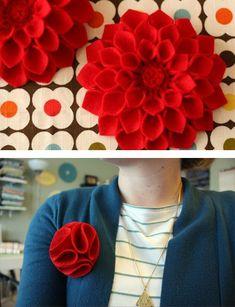 Spille di fiori fai da te di feltro