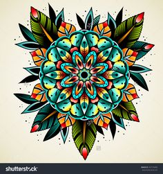 Tattoo Old School, Kunst Tattoos, Neue Tattoos, Traditional Tattoo Flowers, Neo Traditional Tattoo, American Traditional, Hand Tattoos, Sleeve Tattoos, Tatoo Art