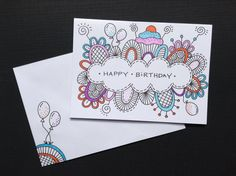 birthday cards drawn drawings happy drawing cool cookies