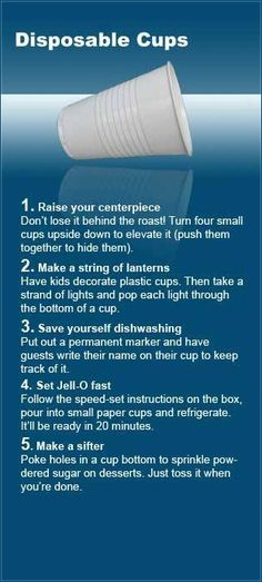 DIY Uses for Disposable Cups