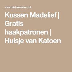 Kussen Madelief | Gratis haakpatronen | Huisje van Katoen