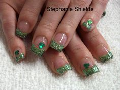 Green Nail Art Design for Saint Patrick's Day :: Nail Art Design From CoolNailsArt