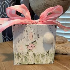 Spring will be here before we know it and this adorable little bunny would make the perfect accessory to your spring decor! It would also look cute displayed in a nursery. Easter Art, Hoppy Easter, Easter Crafts, Easter Decor, Easter Ideas, Easter Bunny, Easter Table, Easter Eggs, Bunny Painting