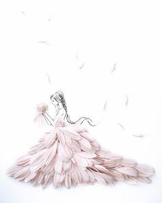 Grace Ciao, Field Wedding, Fashion Design Drawings, Flower Dresses, Designs To Draw, Flower Art, Fashion Art, Wedding Dresses, Tasty