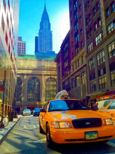 The Chrysler Building & Taxi Cab in New York City by Michael FRANCHITTI on 500px