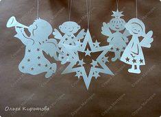 Интерьер Мастер-класс Новый год Рождество Вырезание Пора украшать школу Бумага Бусины Ленты Нитки фото 20