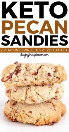 Keto Cookies, Pecan Shortbread Cookies, Sugar Free Cookies, Cookies Et Biscuits, Macadamia Cookies, Almond Flour Cookies, Keto Biscuits, Healthy Cookies, Chip Cookies