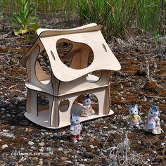 Fairy doll house. Vector model for laser cut. Instant by cartonus