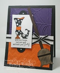 Wickedly Wonderful Creations cute card!  Use the owl punch for broom!
