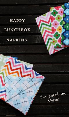 lunchbox napkins/ ann kelle