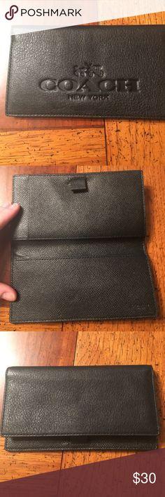 Coach check register holder EUC checkbook holder wallet Not sure - check register