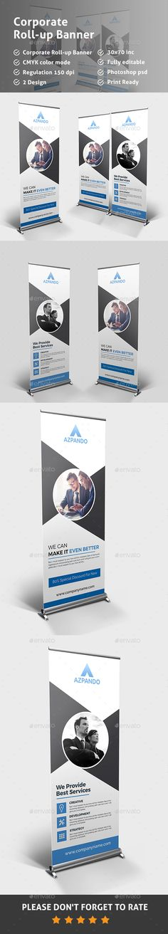 Corporate Roll-up Banner Template PSD. Download here: http://graphicriver.net/item/corporate-rollup-banner/14930836?ref=ksioks